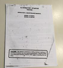 Pro-go alternator/starter diagnostic tester model# 7501PG/7500PG manual antique