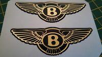 ****Bentley Chrysler high gloss gel domed badges****MIRRORED GOLD***