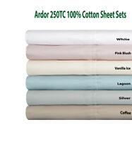 Ardor 250TC 100% Cotton Sheet Sets