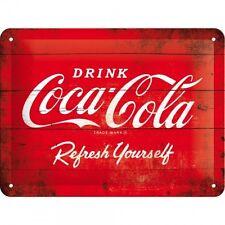 Blechschild 25 x 50 cm - Coca Cola - Red Logo