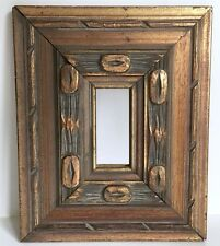 "Mirror Brutalist Wood 10.5"" Vtg Turner Wall Accessory Mid Century Wall Hang"