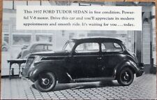 Ford 1937 Tudor Sedan Car Advertising Postcard - Wier Motors - Litchfield, CT
