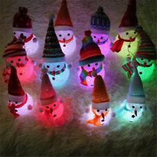 Xmas Gift LED Snowman Santa Claus Ornament Christmas Tree Light Hanging Decor