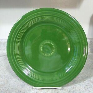 """Vintage Fiesta Pottery 1950's Forest Green Dinner Plate, 10 1/4"""" Utensil Marks"""