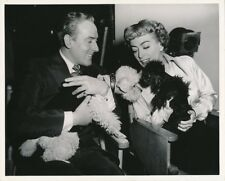 JOAN CRAWFORD MICHAEL WILDING Puppies CANDID Set Vintage TORCH SONG MGM DW Photo