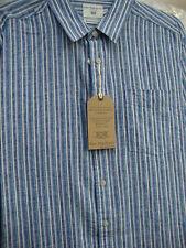 Camicie casual da uomo blu in lino