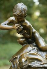 Boy with Dolphin Nude Statue / Sculpture by Gemito Signed & Marked (MAKE OFFER!)