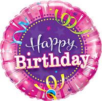 Age 90 - Happy 90th Birthday Qualatex Balloons {Helium Party Balloons Boy/Girl}