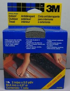 """3M Safety-Walk Gray Indoor/Outdoor Tread 2""""  x 180"""" ( 15 ft or 5 yd) Roll 7647NA"""
