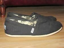 Mens TOMS TOM'S Black Canvas Beach Shoes Espadrilles Size M9 / UK 7.5 Great