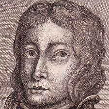 Portrait XVIIIe Friedrich II. Von Habsbourg Duc de Carinthie Österreich 1744