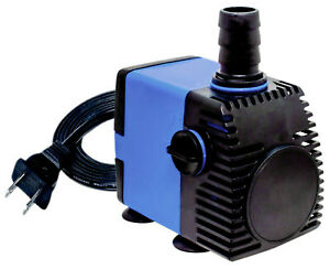 320 GPH Adjustable Submersible Hydroponic Fountain Pond Aquarium Water Pump