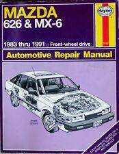 HAYNES MAZDA REPAIR MANUAL - MAZDA 626 & MX-6 1983-1991 - FWD - BOOK