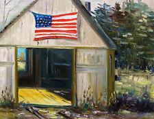 Original FLAG Studio Landscape Painting JMW art John Williams Impressionism OIL