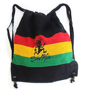 "Soul Mon Cool Runnings Ez Backpack Back Pack Reggae Marley Rasta Jah Jamaica 17"""