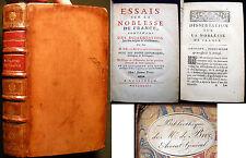 1732 COMTE DE BOULLAINVILLIERS ESSAIS NOBLESSE FRANCE AVOCAT-GENERAL BOOKPLATE