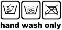 Aufkleber Tuning Fun Kult Oldschool Waschanleitung Auto hand wash only 20X10cm !