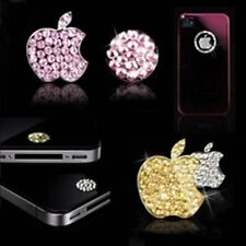 IPHONE,IPOD Diamond Bling Home Button & Logo Decal Sticker GOLD,SILVER,PINK,BLUE