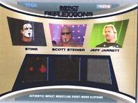 TNA Sting Scott Steiner Jeff Jarrett 2012 Reflexxions BLUE Relic Card 21 of 25