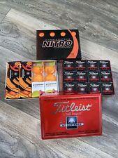 NITRO Pinnacle Bridgestone & Titleist Golf Balls 3x Dozen (36 Golf Balls) New
