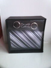 Brand New Tie With Cufflinks, Mens Gift Set, Boxed.
