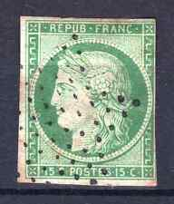 "FRANCE STAMP TIMBRE N° 2 "" TYPE CERES 15c VERT 1850 "" OBLITERE A VOIR  P761"