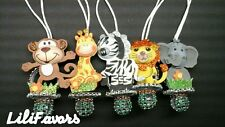 "12 pcs Jungle Animals Pacifier Necklaces for ""Don't Say ""Baby Shower game Favors"