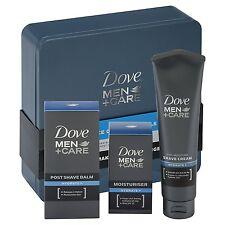 Dove Men + Care 3pc Essential Face Care Tin Mens Gift Set (shave cream, balm, mo