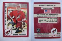 2015 SCA Brent Johnson Phoenix Coyotes goalie never issued produced #d/10 rare