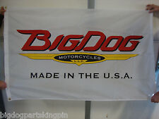 BIG DOG MOTORCYCLES VINTAGE LOGO FLAG BANNER INDOOR K-9 CHOPPER PITBULL MASTIFF