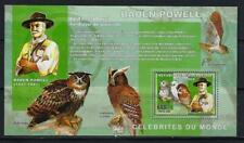 KL5922 Mint NH 2006 600F Boy Scout & Birds of Prey Owls Souvenir Sheet