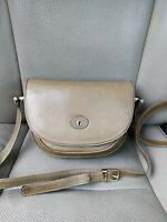 Etienne Aigner 90s Vintage Olive Leather Saddle Shoulder Bag Crossbody Messenger