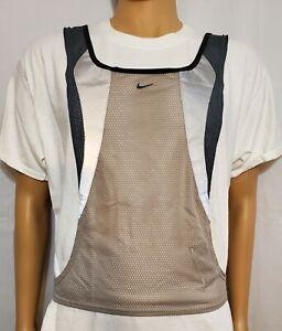 Nike Running Vest Unisex Small/Medium Lightweight Mesh Reflective Beige NWOT