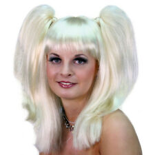 Blonde Pigtails Wig Harley Quinn Arkham Baby Spice Emma Costume Adult Womens