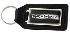 Triumph 2500 MK2 Rectangle Black Leather Keyring