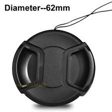 62mm Snap-on Front Lens Cap For Canon Nikon Pentax Panasonic Tamron Sigma Sony