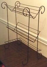 Mid Century Modern Metal Wire Standing Bookcase Holder Shelf Unit Library Shelf