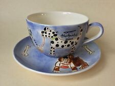 Whittard of Chelsea Handpainted Dog Breakfast Cup & Saucer 1 Pint Capacity