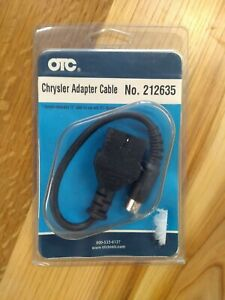 "OTC 212635 Chrysler Standard 6 Pin Adapter Cable 12"" For Scan Tool New Old Stock"