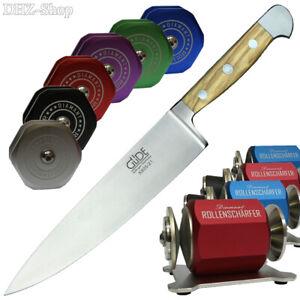GÜDE Kochmesser Olive Diamant Rollenschärfer Rollschleifer Messer Schärfer