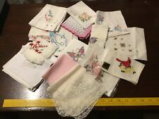 Vintage Womens Handkerchiefs Hanky Hankies Lot