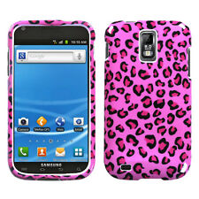 T-MOBILE SAMSUNG GALAXY S II 2 T989 GRAPHIC HARD SHELL CASE LEOPARD PINK
