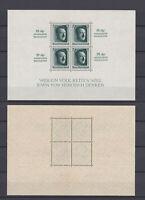 GERMAN REICH 1937 Hitler Birthday Sheet insc. Mint ** B104 (Mi.648 Block9)