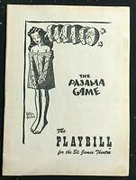 BROADWAY PLAYBILL - May 30 1955 - THE PAJAMA GAME - John Raitt / Janis Paige b1