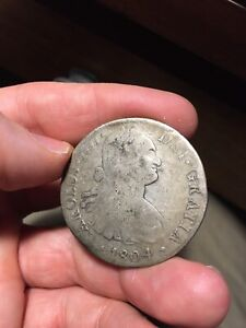 1804 -- spain --  8 Reales -- big silver coin