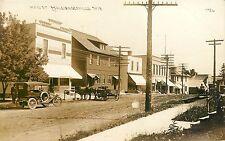 Wisconsin, WI, Schleisingerville, Main Street 1914 Real Photo Postcard