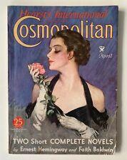 Hearst's International COSMOPOLITAN April 1934 ERNEST HEMINGWAY Short Story