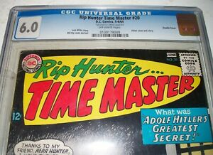 CGC 6.0 RIP HUNTER TIME MASTER #20 with DOUBLE COVER & Hitler Cover from 1964