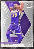 LeBron James 2019-20 Panini Mosaic Base #8 Los Angeles Lakers MVP GOAT LBJ1