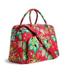 New Vera Bradley Weekender Travel Overnight Carry On Bag in Rumba floral